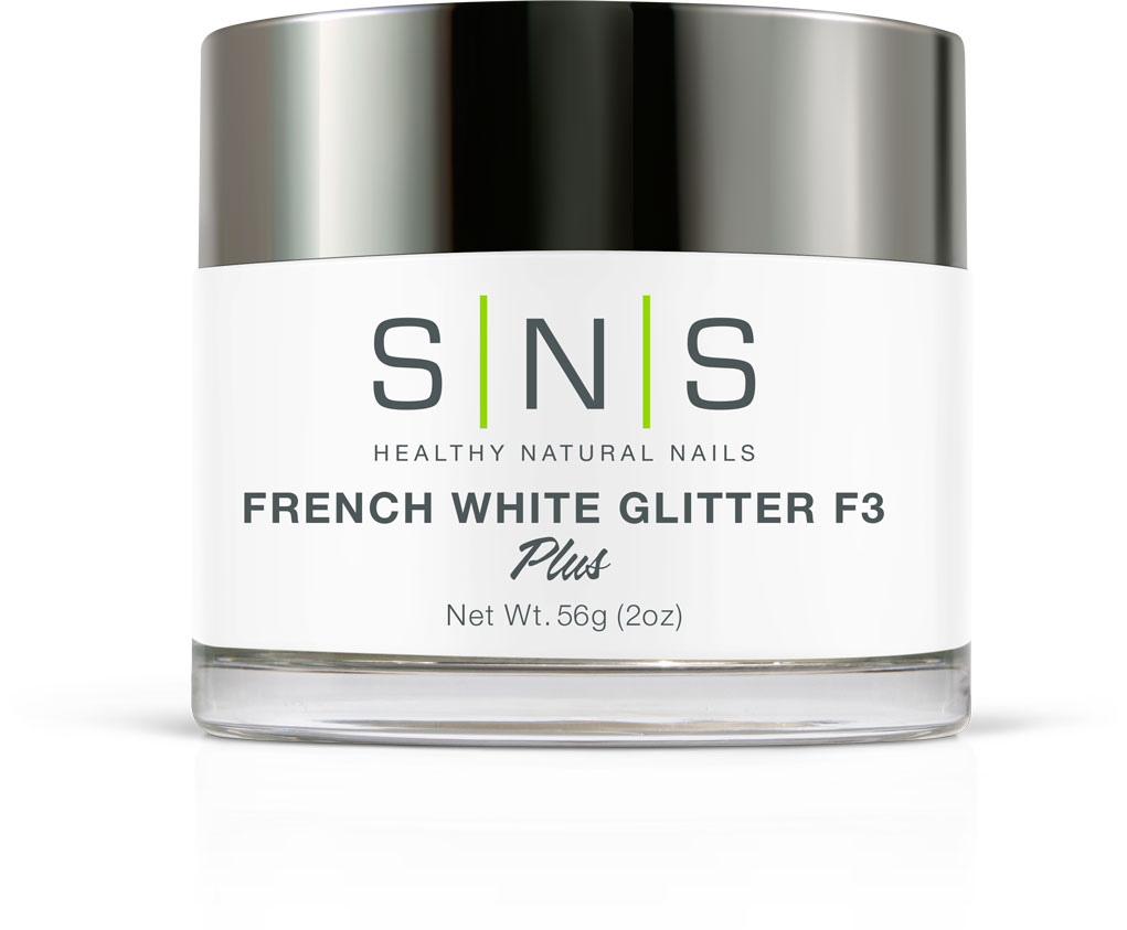 French white glitter F3
